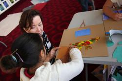 Claire with workshop participant