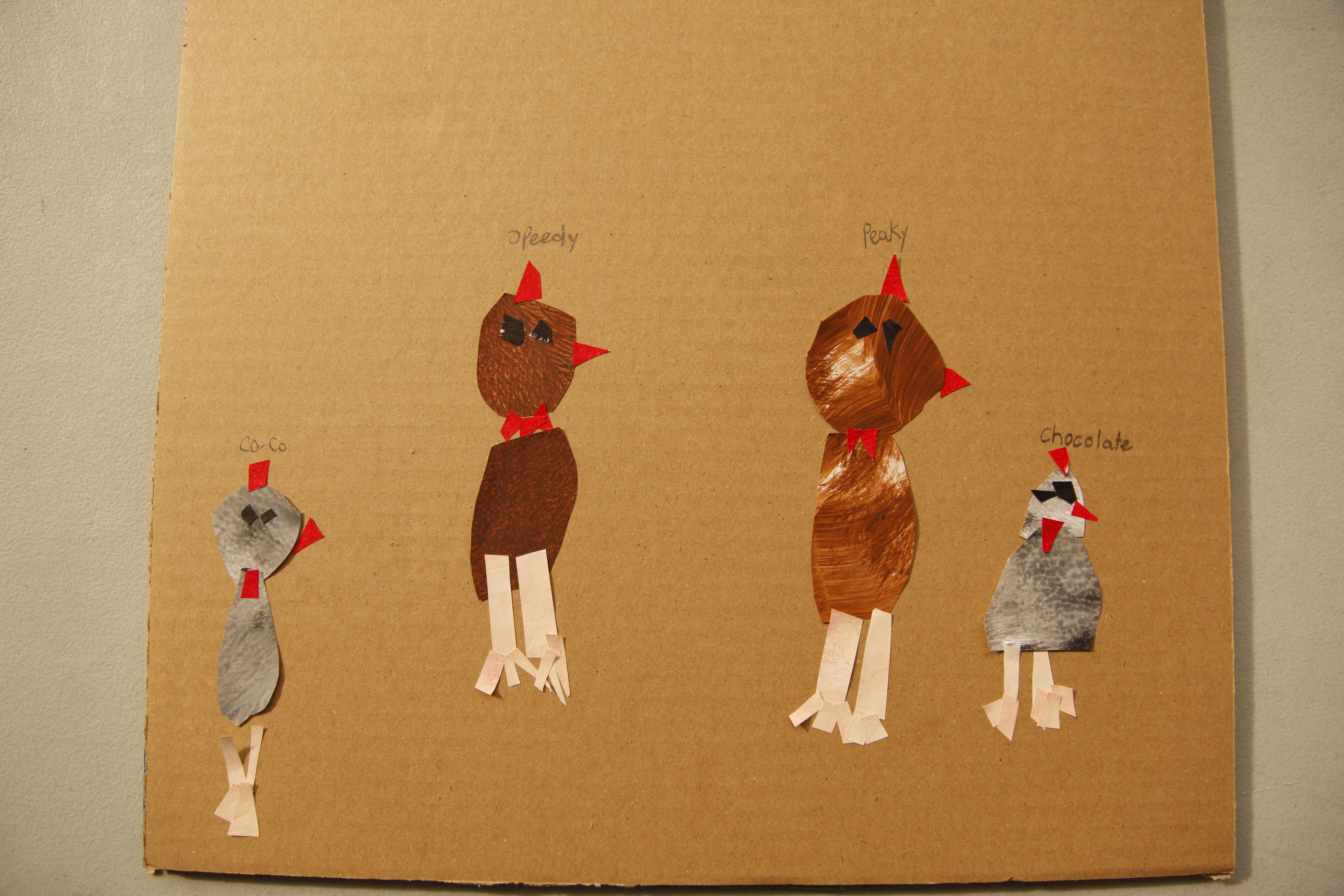 'the chickens..coco, speedy'