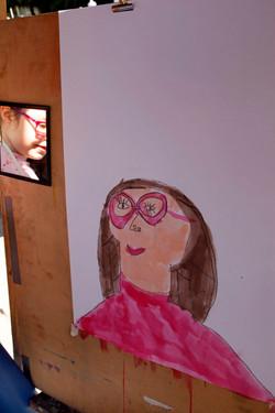 pink glasses self portrait
