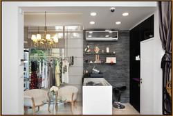 Clothing store reception desk