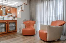Armchairs near the window