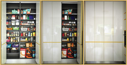 Pantry with folding doors