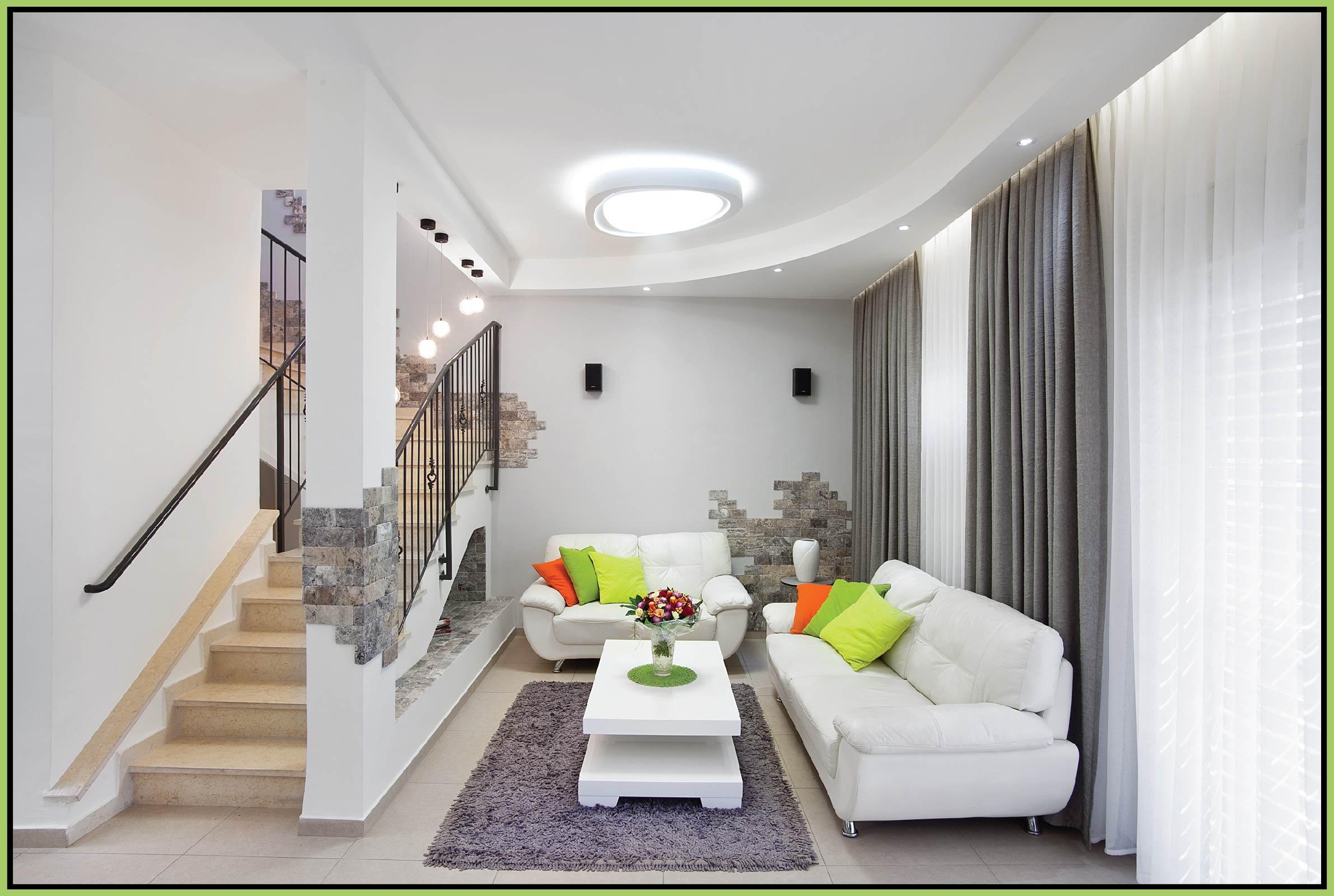 Plaster ceiling in modern style