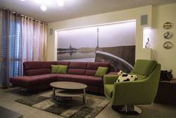 Designed wallpaper for living room