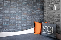 Wallpaper decor in Kids room