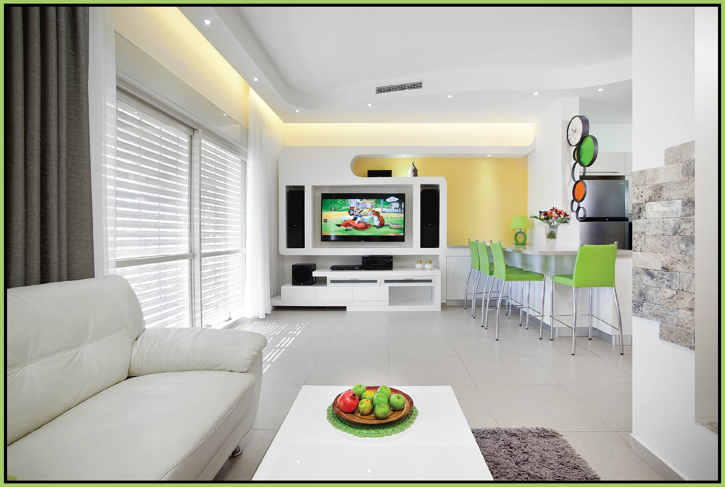 Design of plaster niches for a TV