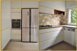 White-yellow kitchen