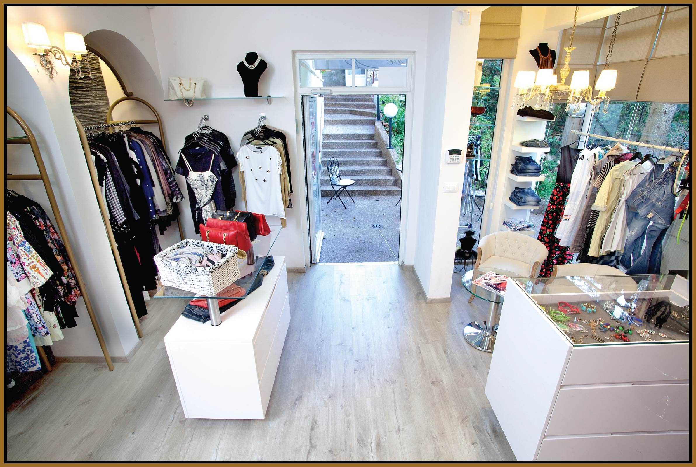 Boutique store entrance area