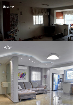 Before and After the renovation