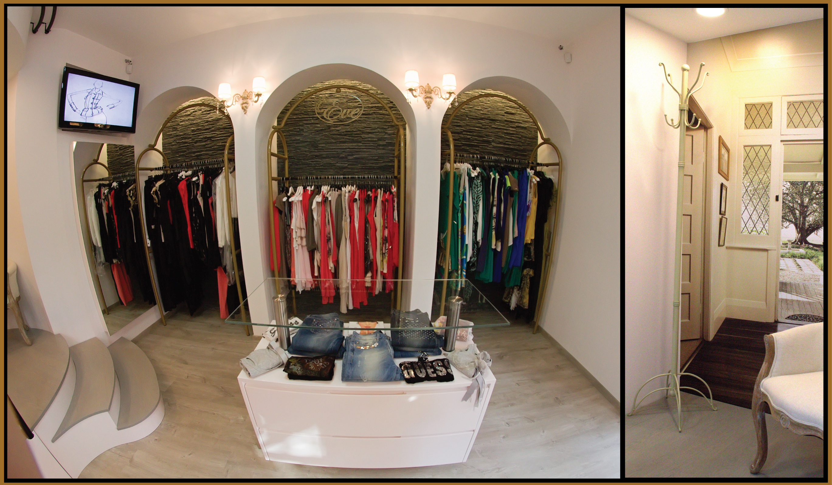 Interior design of a boutique shop