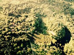 Vista aérea do Espaço Asas & Raízes