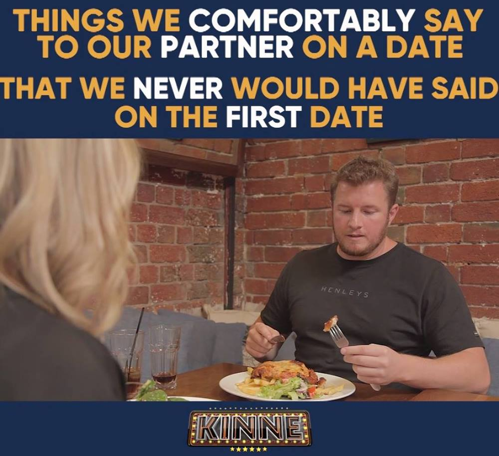 THINGS WE COMFORTABLY SAY TO OUR PARTNER ON A DATE, THAT WE NE...