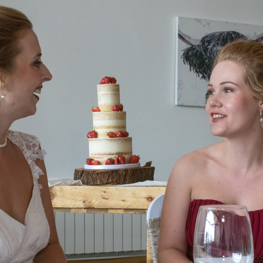 The Bride and Bridesmaid, Hair and Makeup by Mazz Loxton, Hair and Makeup Artistry