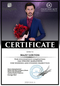Bridal and Evening Hairstyling Certificate, Mazz Loxton, Hair and Makeup Artistry