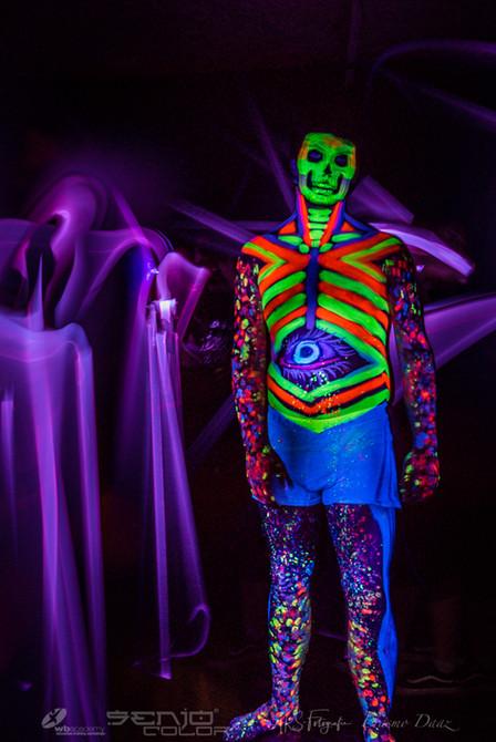 UV Zombie body paint