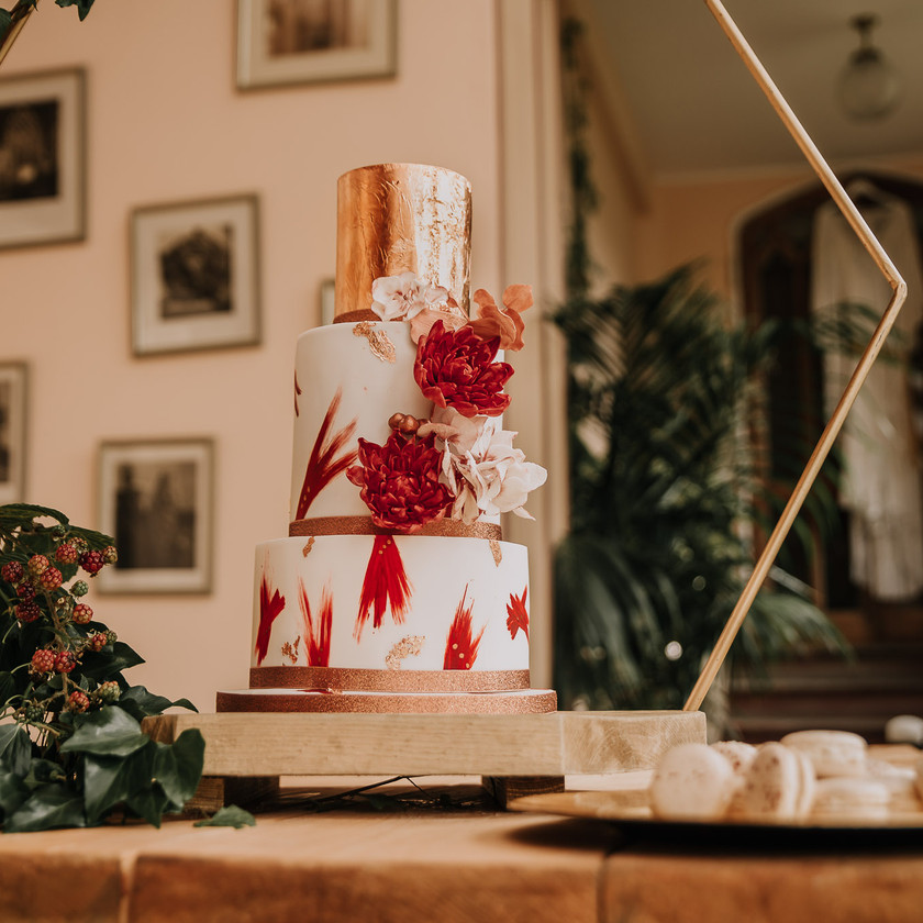 Peak District Autumn Sunset Wedding, Cressbrook Hall, Wedding Cake