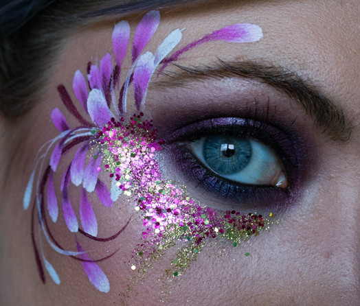 Adult Festival Face Paint and Bio Glitter