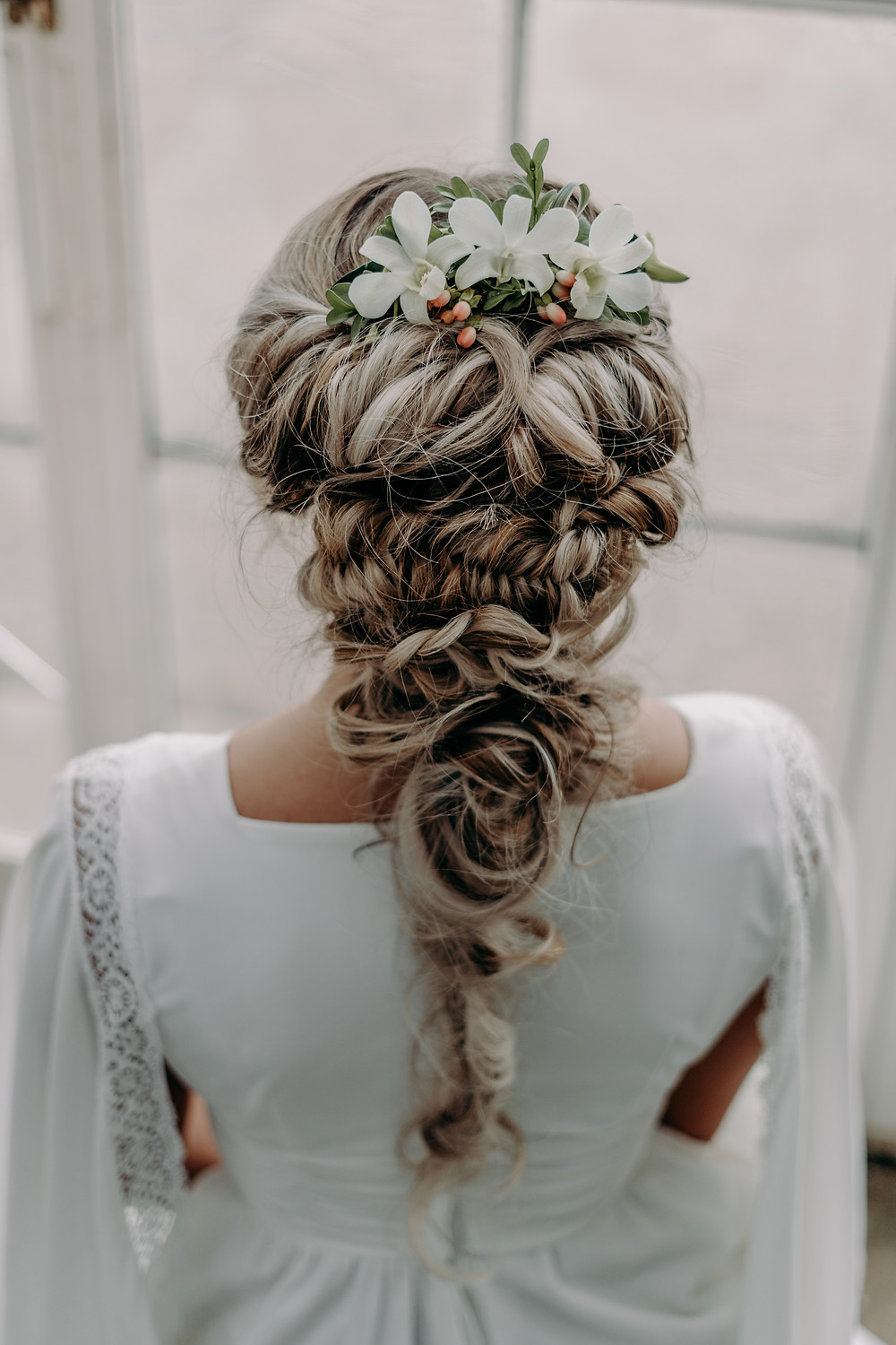 Whimsical, Braided, Textured Wedding Hairstyle, Mazz Loxton, Hair and Makeup Artistry, Sheffield