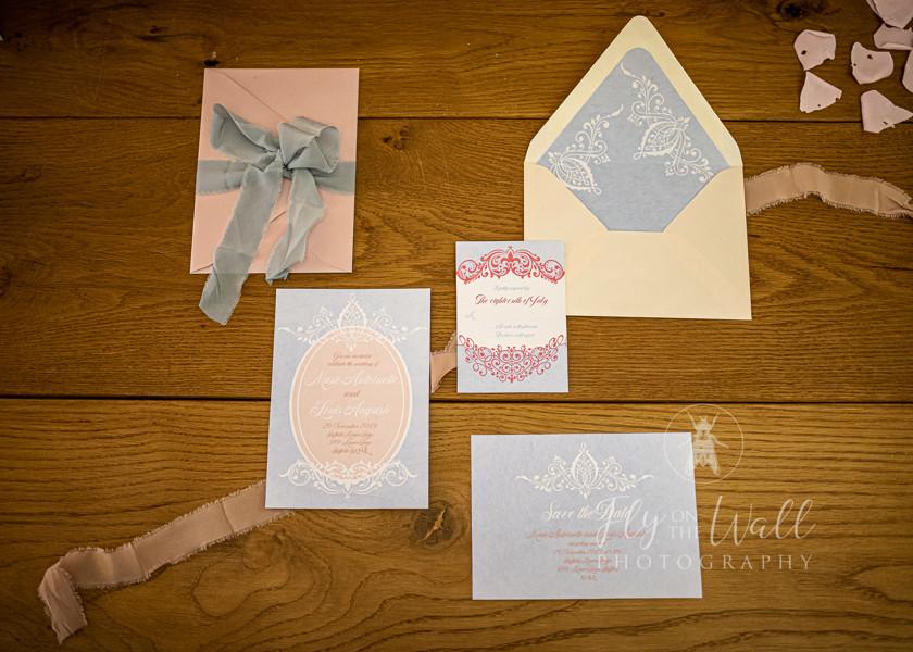Marie Antoinette inspired Wedding, Sheffield Manor Lodge. Wedding Stationary