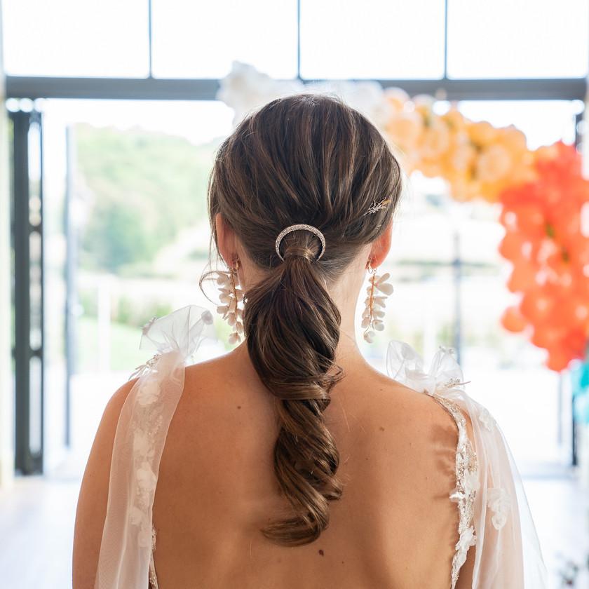 Bridal Hair Textured Boho Ponytail, Mazz Loxton, Hair and Makeup Artistry, Sheffield