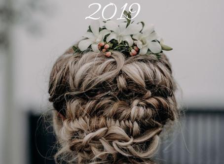 My top 5 Bridal Hair Styles of 2019