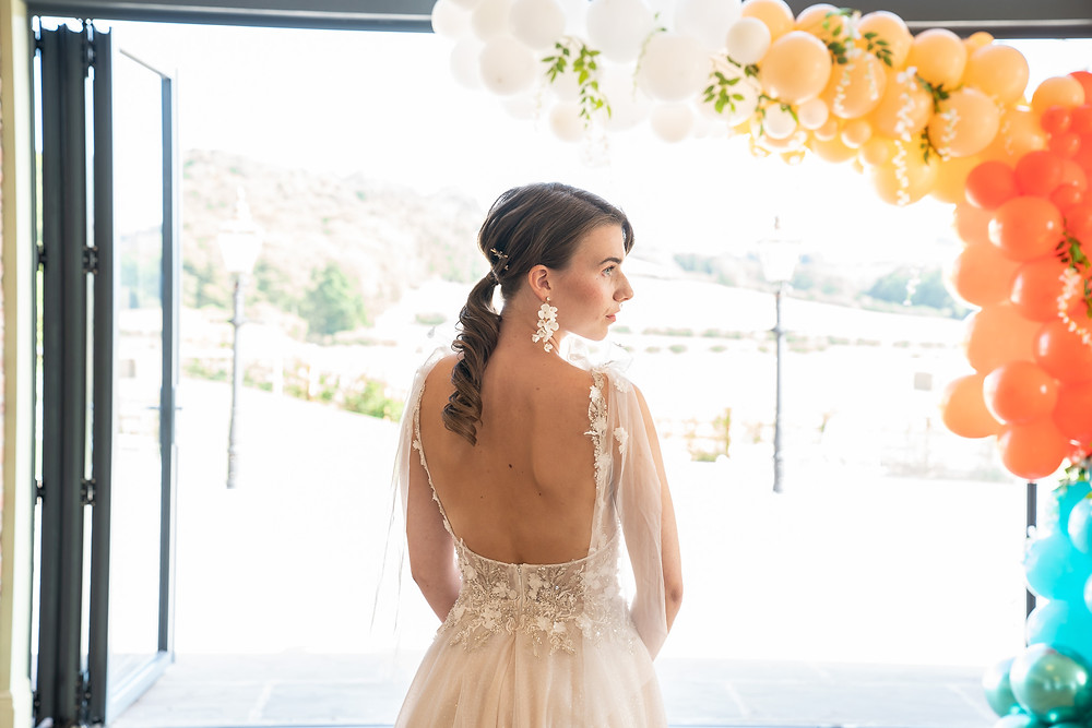 Boho, romantic bridal pony tail with curls, Mazz Loxton, Hair and Makeup Artistry, Sheffield