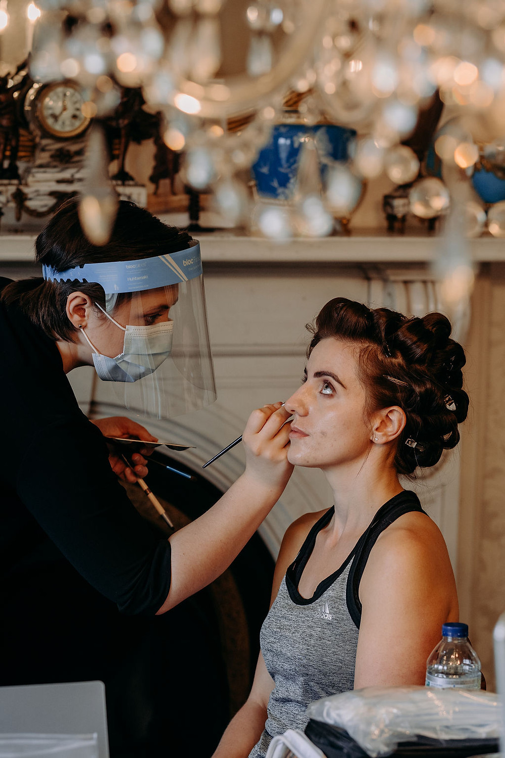 Behind the scenes, Mazz Loxton, Bridal Hair and Makeup Artistry, Sheffield. Image by EKR Pictures