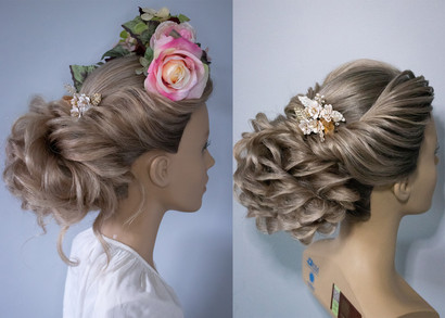 Bridal Hairstyling before and after, Mazz Loxton, Hair and Makeup Artistry, Sheffield