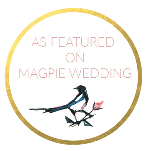 Featured on Magpie Wedding badge
