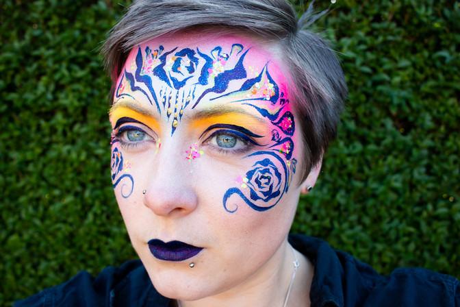 Festival Tiger Face Paint