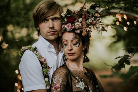 Dramatic Bridal Makeup with Festival Wedding Hair