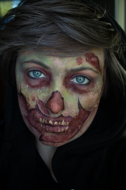 Halloween Zombie Face Paint