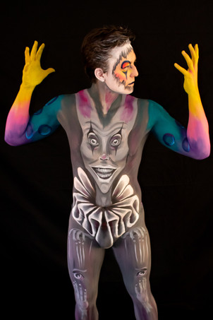 Clown Body Paint by Mazz Loxton, Body Artist, Sheffield