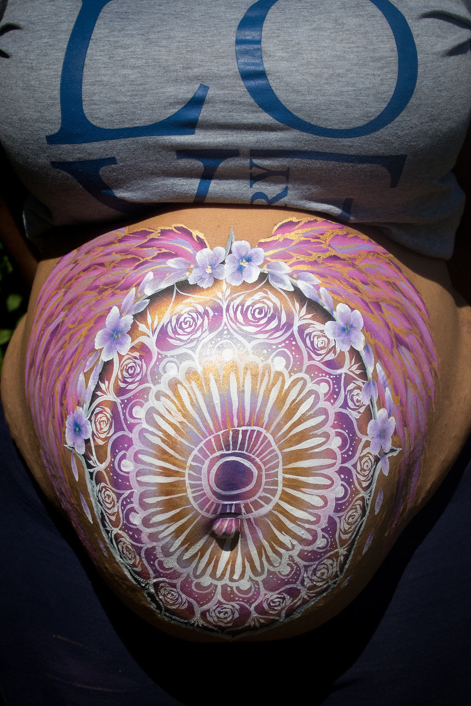 Mandala inspired Belly Paint