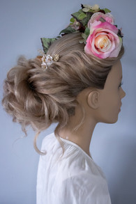 Twisted Bun Bridal Hair Styling. Mazz Loxton, Hair and Makeup artistry, Sheffield