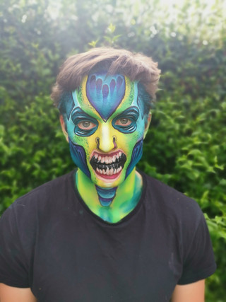 Adult Sea Monster Face Paint