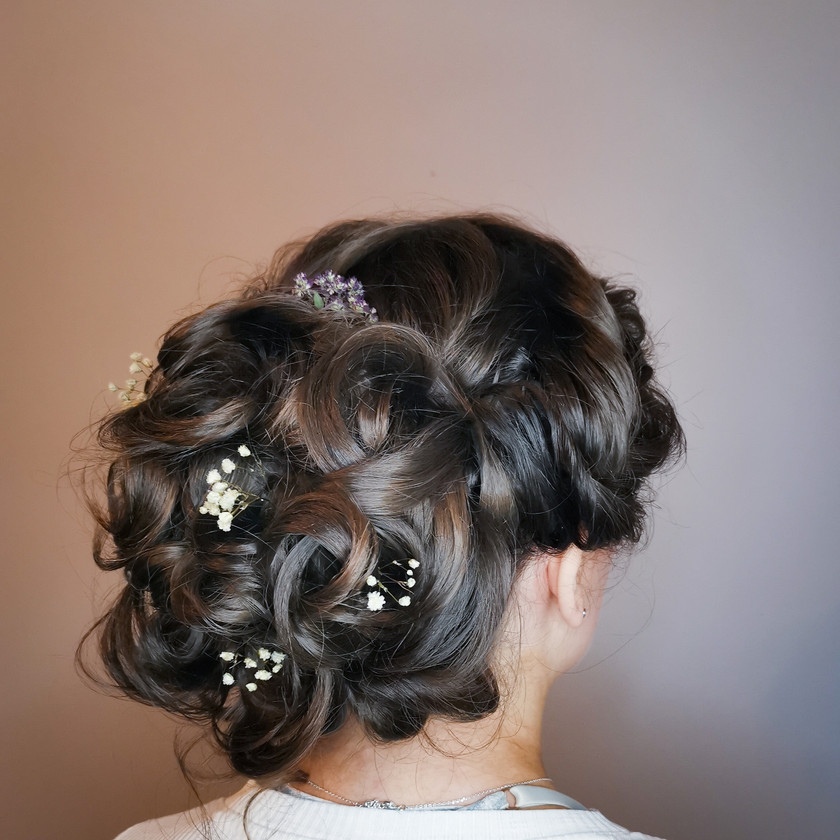 Textured Bridal Boho Updo, Mazz Loxton, Hair and Makeup Artistry