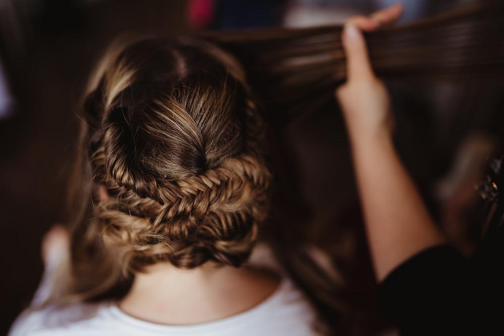 Bridal Hair Prep, Action Shot, Mazz Loxton, Hair and Makeup Artistry, Sheffield