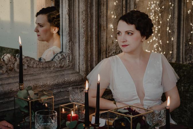 1920's inspired Bridal Hair and Makeup