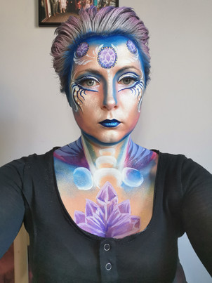 Wonders of nature, Face Paint. Crystals and Moon Magic Practice Idea  The Mobile Painting Parlour, Sheffield