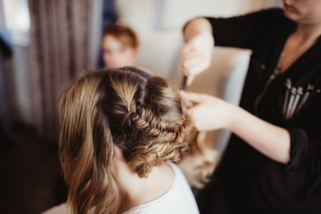 Behind the scenes, boho hair styling