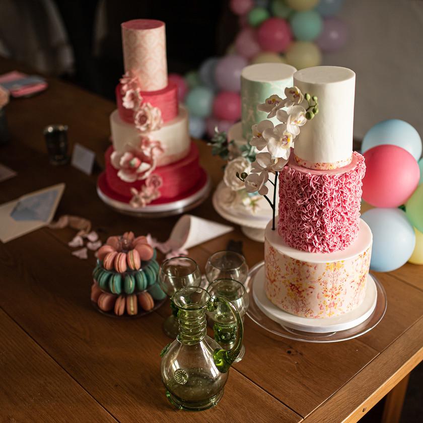 Marie Antoinette inspired Wedding in Sheffield. Wedding Cakes