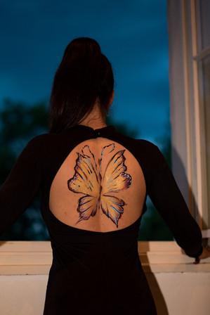 Adult Butterfly Body Art