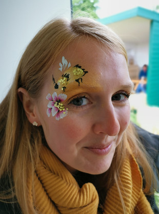 Adult Bee and Flower Face Paint