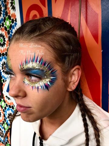 Glittery Festival Face Paint