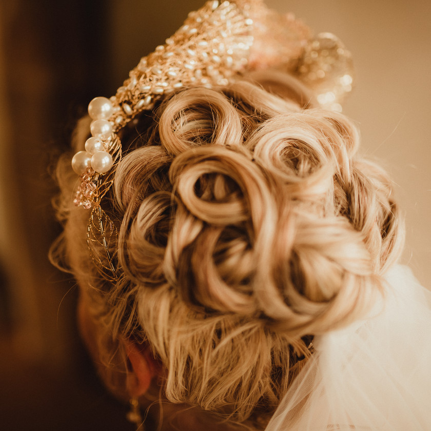 Marie Antoinette inspired Wedding, intricate Bridal Hair Style by Mazz Loxton Hair and Makeup Artistry