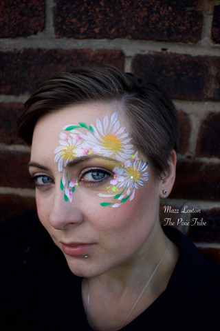 Adult Daisy Face Paint