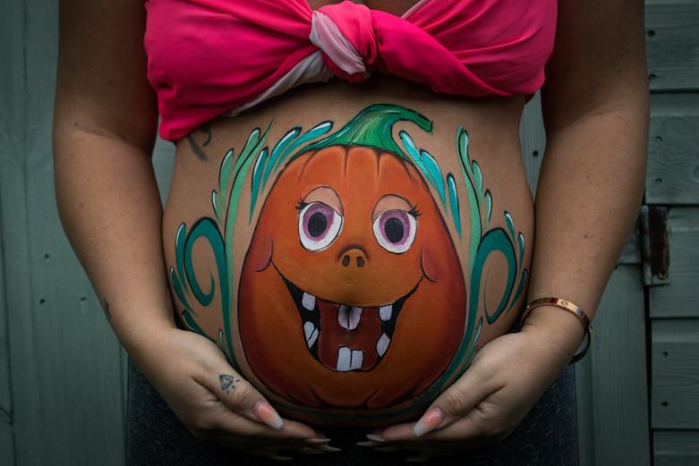 Pumpkin Belly Paint