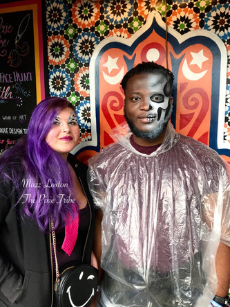 Skull and Zebra inspired Festival Face Paint