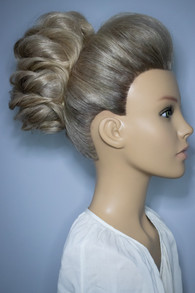 S Shape Twist Bun Bridal Hair Styling. Mazz Loxton, Hair and Makeup artistry, Sheffield